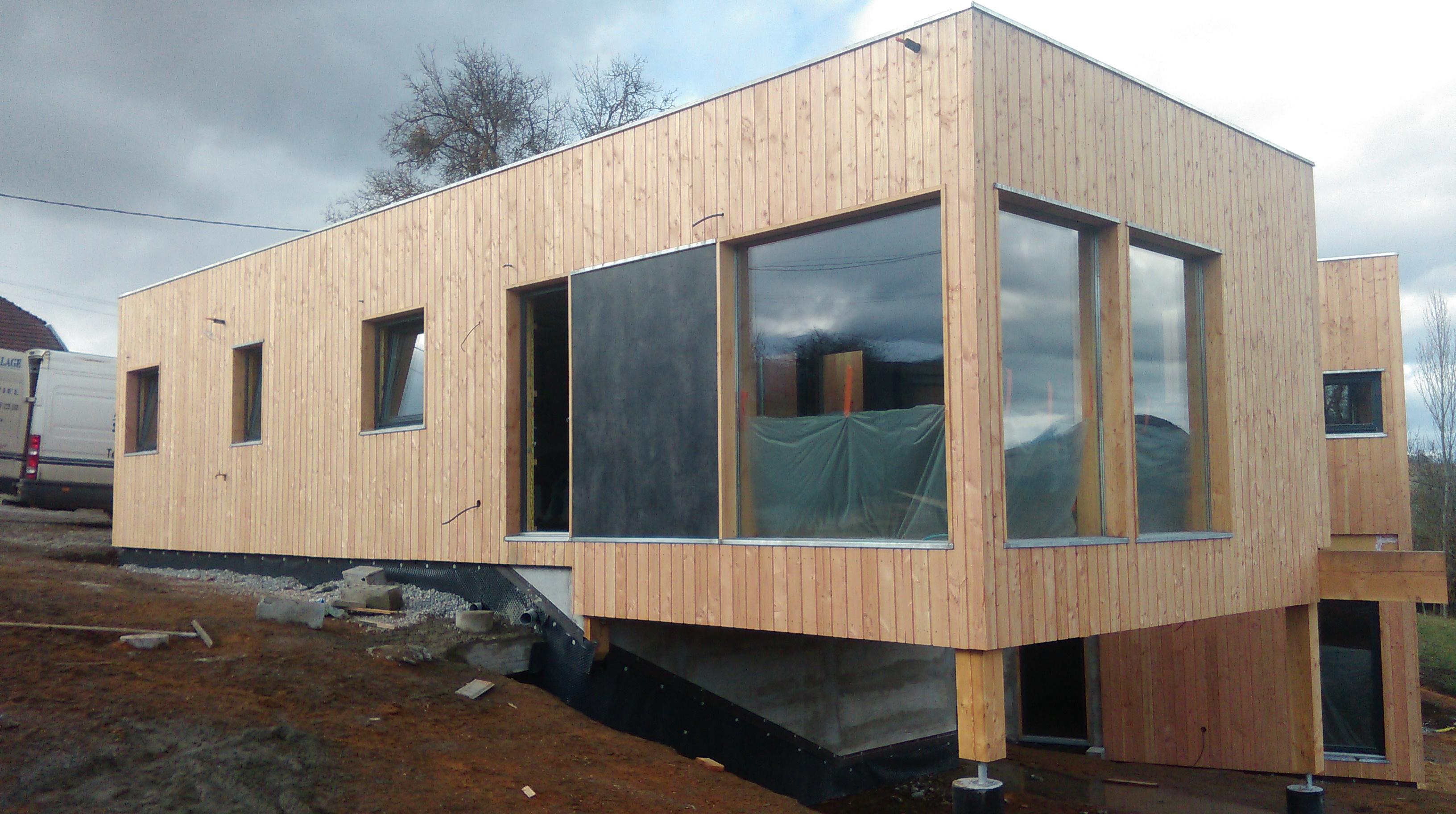 Maison ossature bois sur pilotis gallery of extension maison ossature bois s - Extension ossature bois sur pilotis ...